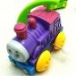 Stem Winding up Running Train Locomotive Turning Over