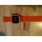 Silicone Band Women Men Unisex Jelly Sport Style Square Mirror LED Wrist Watch - Orange Cool Watches Unique Watches
