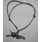 старинный крест крыла ангела кулон долго натуральной кожи мужчин ожерелье