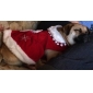 Cat / Dog Dress Red Dog Clothes Winter Wedding / Cosplay