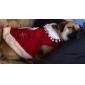고양이 / 개 드레스 레드 강아지 의류 겨울 코스프레 / 웨딩
