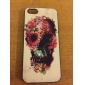 Flower Decorated Skull Coloured Drawing Pattern Black Frame PC Hard Case for iPhone 5/5S