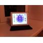 Capinha Para Com Suporte Hibernação / Ligar Automático Rotação 360° Corpo Inteiro Linhas / Ondas Couro Ecológico para iPad 4/3/2