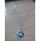 Moon Fashion Galaxy European Pendant Necklace Gemstone Glass Alloy Pendant Necklace , Wedding Party Daily Casual