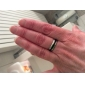 Кольца Повседневные Бижутерия Титановая сталь Классические кольца8 Черный / Серебряный