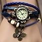 여성용 패션 시계 드레스 시계 석영 PU 밴드 나비 보헤미안 블랙 블루 오렌지 브라운 그린