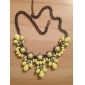 Women's Fashion Statement Necklace Crystal Rhinestone Alloy Statement Necklace , Wedding Party Daily Casual