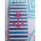 Hard Case Azul e Branco Padrão Anchor para iPhone 5C