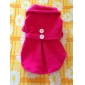 Dog Shirt / T-Shirt Dog Clothes Casual/Daily Solid Rose Red Blue Blushing Pink