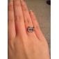 Women's Korean Shiny Red Panda Full Diamond RingImitation Diamond Birthstone
