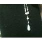 moda shixin® belo colar branco pingente de pérola (1 pc)
