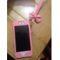 Trendy Capa Protetora Estilo Princesa PU de couro com bowknot Cinta para iPhone 5/5S/5C