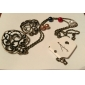 Европейский полые сердца персика с красочной Перл сплава ожерелье (1 шт)