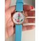 Mulheres Relógio de Moda Quartzo PU Banda Branco Azul Verde Rosa Rose