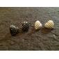 Heart Stud Earrings Jewelry Women Heart Daily Alloy Black White Red Blue