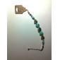lureme®vintage estilo boêmio pulseira turquesa flor