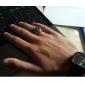 Anéis Diário / Casual Jóias Aço Titânio Anéis Statement8 Prateado