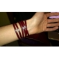 여자의 포도 수확 긴 포장 가죽 밴드 석영 아날로그 손목 시계 (분류 된 색깔)