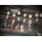 50pcs Gold & Silver 7x9cm Cloth Bag