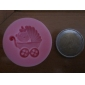 1pcs do transporte de bebê chuveiro partido Silicone Soap Mold