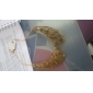 Europeu e do palácio retro americano esculpida oco falso colar colar de corrente camisola N224