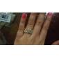 Anéis Pedras dos signos Pesta / Diário / Casual Jóias Aço Inoxidável / Strass Feminino Anéis Statement Dourado / Prateado