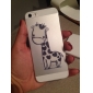 Beau motif transparent pour l'iPhone 5/5S style cartoon de girafe TPU souple