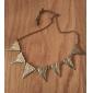 Restaurar antigas formas é exagerado Cadeia Triangular de Metal camisola longa