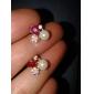 Brincos Curtos Liga Formato de Flor Jóias Para Diário