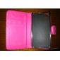 caso elegante de couro pu para iphone design do suporte 4 / 4s virar tampa traseira carteira com slot para cartão