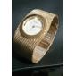 Women's Graceful Gold Steel Band Strap Watch Quartz Wrist Watch Cool Watches Unique Watches