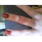 여성용 밴드 반지 러브 신부 클래식 의상 보석 지르콘 은 도금 식스프롱 보석류 제품 결혼식 일상