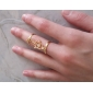 Shixin® European Two Rings Combine With Chain Gold Women'S   Midi Rings(1 Pc)
