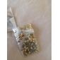 300PCS 3D Золотой квадрат сплава Nail Art Золотые и Серебряные украшения