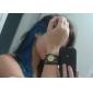 Femme Montre Tendance Bracelet de Montre Quartz Bande rétro Bohème Noir Bleu Rouge Marron Kaki