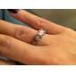 Femme Imitation de diamant Amour Bijoux de Luxe Mariée bijoux de fantaisie Acier inoxydable Zircon Forme Ronde Forme de Couronne Bijoux