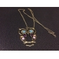Women's Pendant Necklaces Vintage Necklaces Zircon Alloy Fashion Costume Jewelry Jewelry For Daily