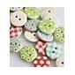 έγχρωμο σχέδιο λεύκωμα scraft ράψιμο diy ξύλινα κουμπιά (10 τεμ τυχαία χρώμα)