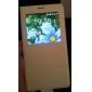 Para Samsung Galaxy Note com Visor / Flip Capinha Corpo Inteiro Capinha Cor Única Couro PU Samsung Note 4