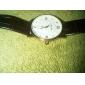 relógio relógio de vestido pulseira de couro de discagem ultrafino dos homens