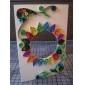 120PCS 3MMx53CM Quilling Paper(24 Color x5 PCS/Color) DIY Craft Art Decoration