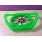 Apple Shaped Plastic Easy Fruit Slicer Cutter Tool (Random Colors)