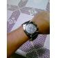 V6® Men's Military Style Black Case PU Band Quartz Wrist Watch Cool Watch Unique Watch