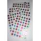 10pcs estrellas coloridas pegatinas en forma de