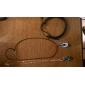 Простые регулируемые мужской кожаный браслет очень здорово темно-синий и черный твист кожа (1 шт)