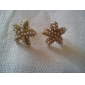 Tempérament diamant or oreilles étoiles de mer d'étoile à cinq branches perle E305