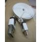 Micro USB к USB между мужчинами кабель для Samsung / Huawei / ZTE / Nokia / HTC / Sony Ericson плоский тип Белая (1M)