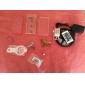 df almofada luxuoso tampa traseira transparente com amortecedor de silicone para iphone 6 (cores sortidas)
