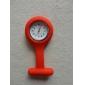 Женские Карманные часы Кварцевый силиконовый Группа Конфеты Белый Синий Красный