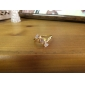 Женская Новая мода 18K позолоченный Прямоугольный дизайн Личность Циркон кольцо J1089